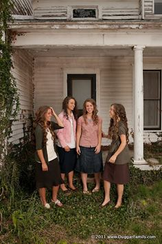 Duggar girls <3 Such a great example of modesty. |Pinned from PinTo for iPad|
