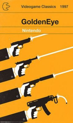 """Videogame Classics: GoldenEye"" video game cover. Concept by Olly Moss."