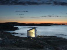 Si. Es una casa de verdad en Newfoundland, Canada.    De Contemporist
