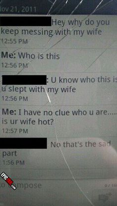 wife-fail-cheat-text. Well no wonder she's cheating on him.