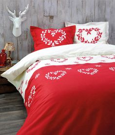 esprit chalet de montagne linge de lit vichy ski. Black Bedroom Furniture Sets. Home Design Ideas
