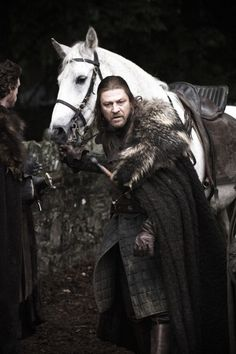 Sean Bean as Lord Eddard Stark in Season One. Lord of Winterfell and Warden of the North, Ned is the most honorable character in Game of Thrones.