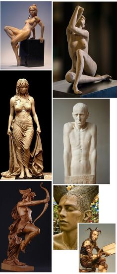 Скульптуры из дерева. скульптура, дерево, красота