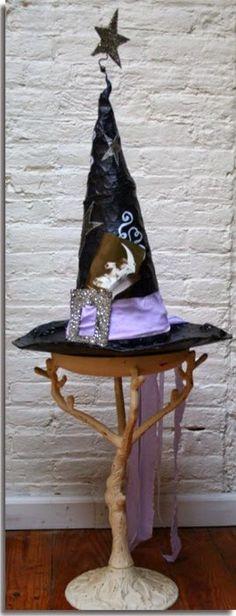 Déco, bricolage, loisirs créatifs, tutos couture et déguisements: Fabriquer un chapeau de magicien, de sorcière pour Halloween