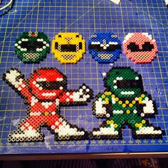 Power Rangers perler beads by morphenomenal