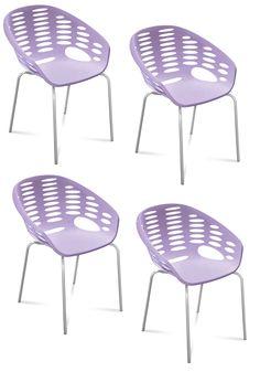4 st Blob stolar - Purple/chrome från Domitalia hos ConfidentLiving.se Purple Chair, Chrome, Furniture, Home Decor, Decoration Home, Room Decor, Home Furnishings, Home Interior Design, Home Decoration
