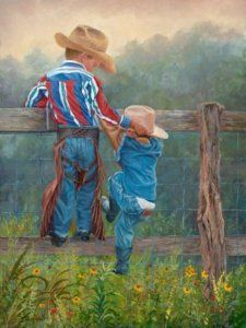 What an adorable painting! The boys need this for their room.