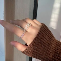 Charm Jewelry, Holographic, Heart Ring, Engagement Rings, Gifts, Enagement Rings, Wedding Rings, Presents, Heart Rings