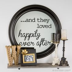 Spruce up an ordinary mirror with your favorite vinyl quote!