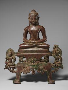 Enthroned Jina Neminatha in Meditation