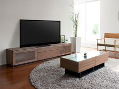 FLYMEe Noir TV BOARD W200 Circle Rug, Flat Screen, Board, Blood Plasma, Flatscreen, Dish Display, Planks
