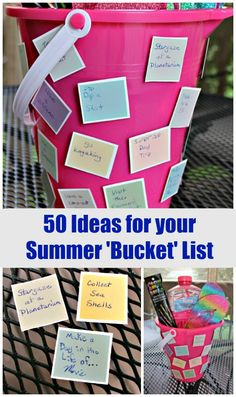 50 Fun Things to do this Summer - great ideas for a Summer fun list or bucket list for kids, tweens, teens and families to do together! Also a fun summer bucket list craft for kids to make and keep track of what they do all summer. Summer Fun For Kids, Summer Fun List, Summer Bucket Lists, Enjoy Summer, Summer Activities For Kids, Activities To Do, Outdoor Activities, Things To Do, Teaching