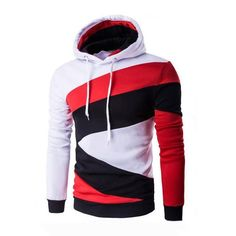09b4648f New Spring Autumn Mens Casual Slim Fit Hooded Hoodies Sweatshirt Sportswear  Male Patchwork Fleece Jacket 5