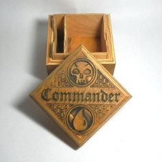 20% Off Sale!! Commander EDH Carved Wood Card Case Magic the Gathering Deck Box MTG, Pokemon, Yugioh Handmade by FoxAndDragon on Etsy