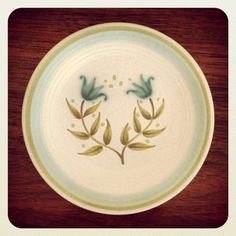 Mid Century Modern Franciscan Pottery Tulip Time Bread Plates. on Etsy, $12.00