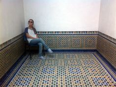 Inside an old Madrassa in Marrakech, north of the bazaar.