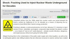 Fracking Used to Inject Nuclear Waste Underground for Decades 2016-11-