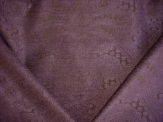 224H5 - Purple / Eggplant Floral Paisley Chenille To the Trade Decorative Upholstery Drapery Fabric - By the Yard -- Awesome products selected by Anna Churchill