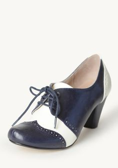 Morgan Lace-up Pumps In Navy By Chelsea Crew at #Ruche @shopruche