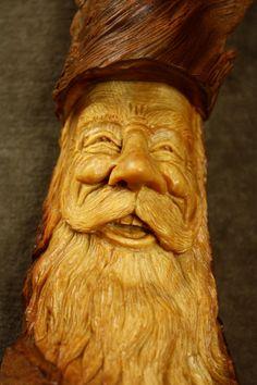 Wood Carving of a Wood Spirit Art Sculpture Wall Hanging Present, A Log Cabin Wall Decor Christmas Gift Chip Carving, Tree Carving, Wood Carvings, Carving Wood, Pirate Face, Engraving Art, Wood Elf, Spirited Art, Got Wood