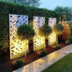 Garden Wall Designs, Back Garden Design, Modern Garden Design, Backyard Garden Design, Small Backyard Landscaping, Garden Landscape Design, Garden Art, Garden Design Ideas Uk, Fence Wall Design