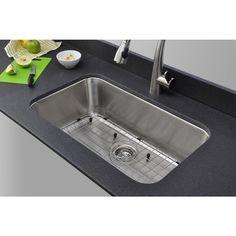 Wells Sinkware 30-inch Undermount Single Bowl 18-gauge Stainless Steel Kitchen Sink