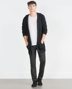 Image 1 of OPEN CARDIGAN WITH HOOD from Zara