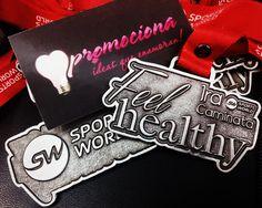 Medalla diseño especial Feel Healthy SW Listón impreso 1 tinta. http://www.promociona.mx/index.php/medalla-dise-o-especial.html