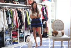 Aimee Song is one of our favorite leading ladies of the web. She has perfect style and a well-trained eye for interiors. And heads up: Aimee built her closet herself—in a day.