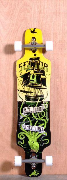 """Sector 9 41.8"""" Dropper Longboard Complete - Green"""