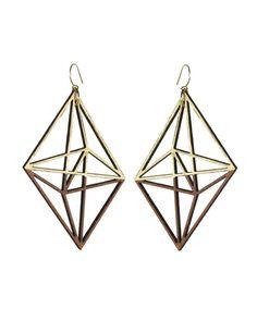 Twine Gold Himmeli Dangle Earrings Jewelry Accessories, Fashion Accessories, Women Jewelry, Jewelry Design, Unique Jewelry, Jewelry Ideas, Geometric Jewelry, Jewellery Display, Jewellery Box