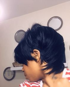 Perruque …… – All About Hairstyles Short 27 Piece Hairstyles, Short Quick Weave Hairstyles, Short Haircuts, 27 Piece Quick Weave, Quick Weave Styles, Quick Weave Bob, Sew In Weave, My Hairstyle, Wig Hairstyles