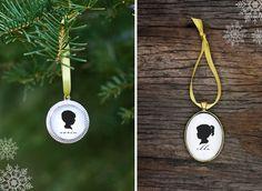 DIY Silhouette Mini Ornaments