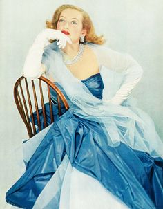 Bette Davis, photographed for the May 1951 issue of Vogue magazine