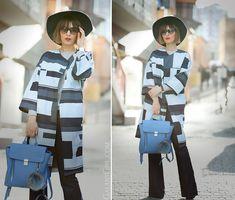 ASOS WHITE Denim Printed Panelled Coat on GalantGirl.com
