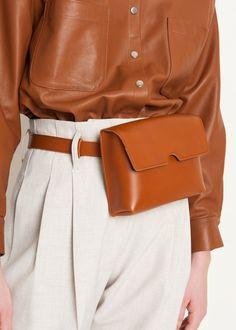 Cognac Leather Belt Bag