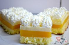 Příprava receptu Svěží pomerančový zákusek se šlehačkou, krok 10 Krispie Treats, Rice Krispies, Panna Cotta, Cheesecake, Ice Cream, Desserts, Recipes, Macs, Entertainment