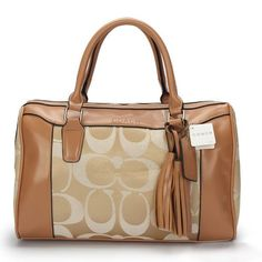 #HighQualityCoach Coach Legacy Haley Medium Khaki Satchels AVT combine rich materials with definitive comfort.