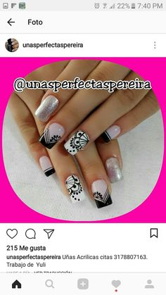 ❤ French Nail Designs, Nail Art Designs, Mani Pedi, Manicure And Pedicure, Crown Nails, Lcn Nails, Rock Painting Patterns, Pedicure Designs, Stamping Plates