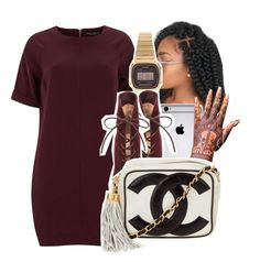 """""""1283"""" by ashley-mundoe ❤ liked on Polyvore featuring Dorothy Perkins, Casio, Gianvito Rossi and Chanel"""