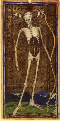 Visconti Sforza deck. 15th century - Death Card