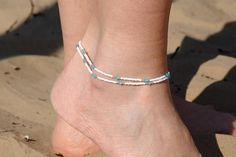 Beaded Anklet Delicate Anklet Dainty anklet Beach anklet Women