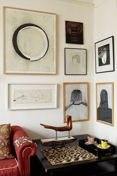 Discover ideas for displaying art on HOUSE - design, food and travel by House & Garden. A chic collection of monochromatic art hangs in the house of sculptor William Pye.