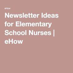 Newsletter Ideas for Elementary School Nurses - Diyjoy Nurse Office Decor, School Nurse Office, Elementary School Library, Elementary Schools, School Nursing, Counselor Office, Ob Nursing, School Uniform, Nurse Bulletin Board