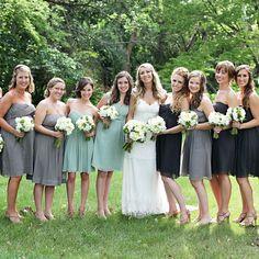 J Crew bridesmaid dresses // Leah Lund Photography / Megan Christine Photography