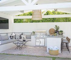Before & After: California Backyard Remodel Outdoor Kitchen Patio, Outdoor Kitchen Countertops, Outdoor Kitchen Design, Outdoor Rooms, Outdoor Living, Outdoor Furniture Sets, Outdoor Kitchens, Outdoor Ideas, Alfresco Ideas