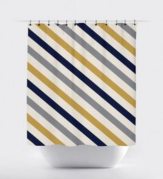 Navy Shower Curtains On Pinterest Shower Curtains Curtains And Chevron Sho