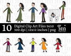 Family Clip Art, Girl Clipart,  Instant Download,  Boy Clip Art, Mom Clip Art, Dad Clip Art, Baby Clip Art - pinned by pin4etsy.com