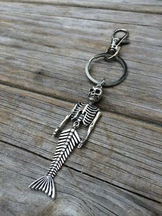 Mermaid Skeleton Keychain