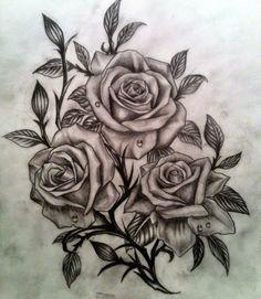 Roses Tattoo for Girls 2014